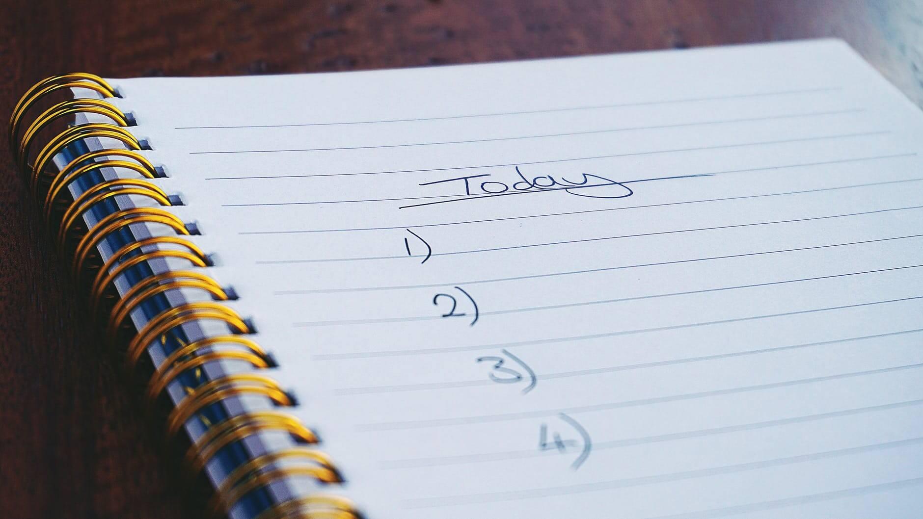 3. Make to-do lists.