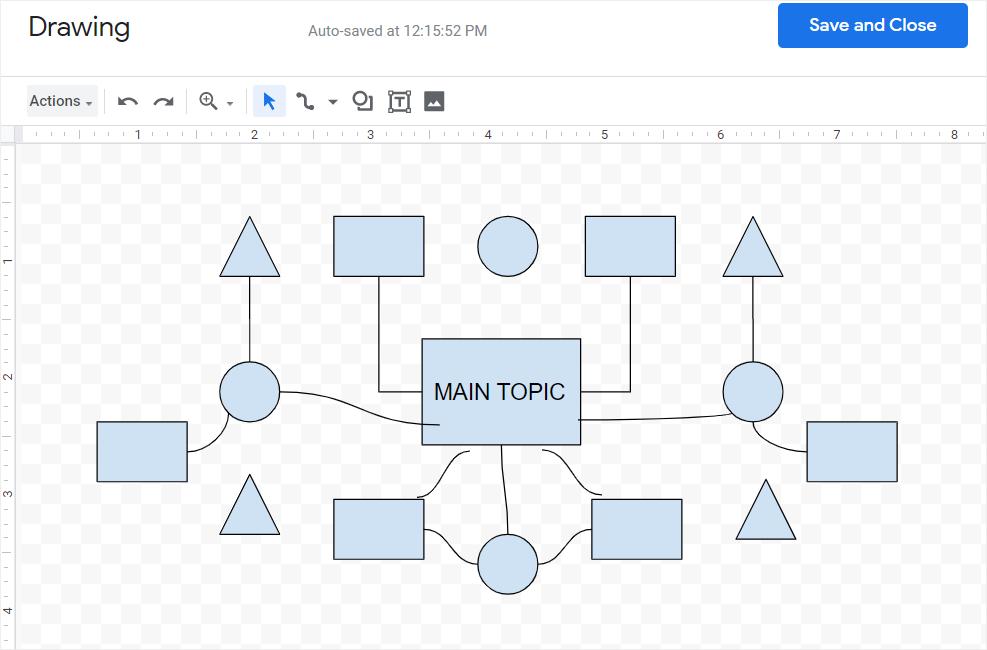 google draw mind map