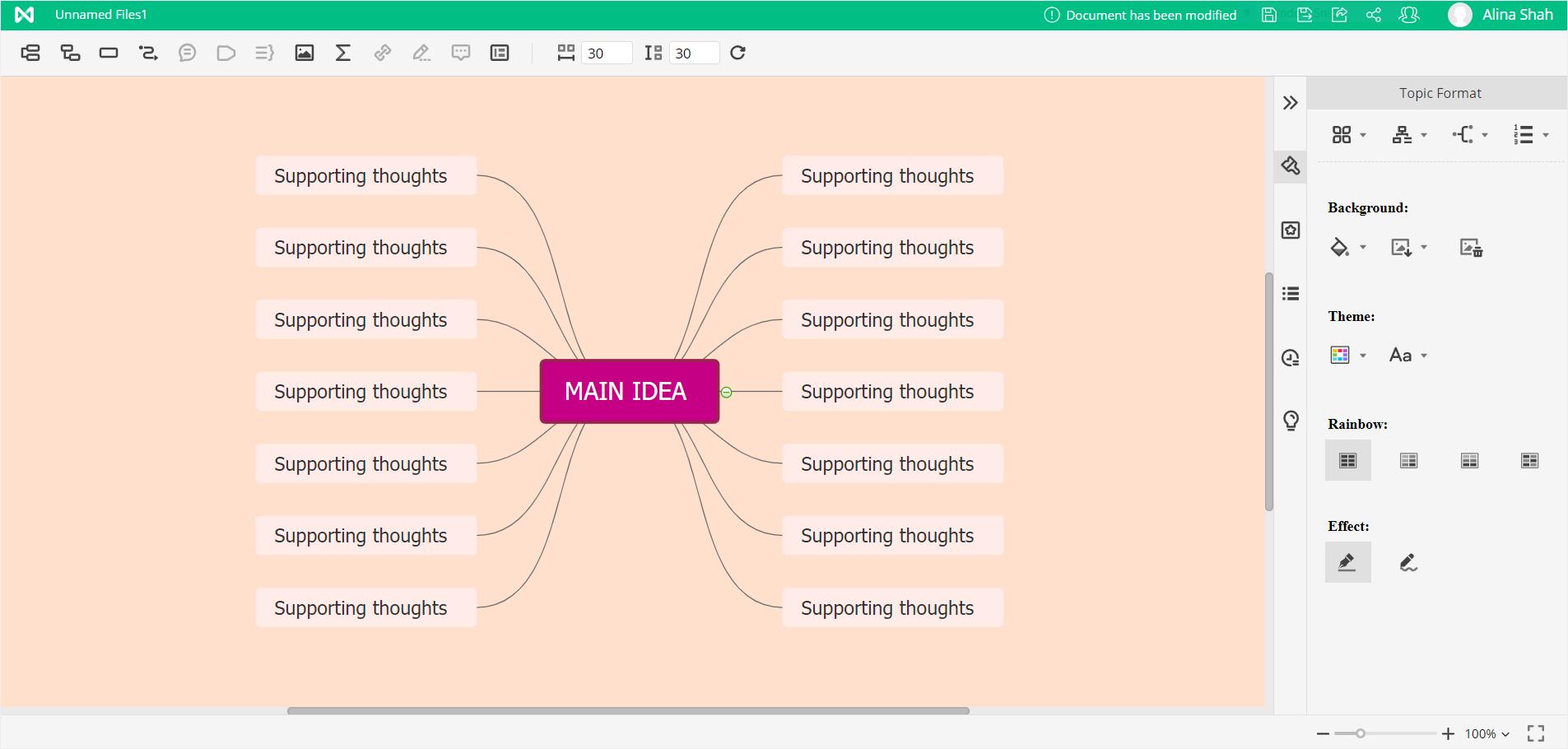EdrawMind customize mind map