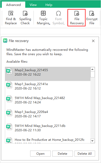 file recovery window